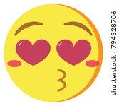 vector cute kawaii emoji ... | Shutterstock .eps vector #794328706