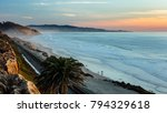 Sunset And Marine Layer At The...