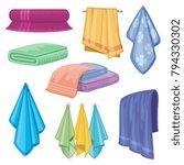 cotton fabric vector towel.... | Shutterstock .eps vector #794330302