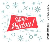 black friday  beautiful... | Shutterstock .eps vector #794333272