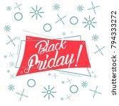 black friday  beautiful... | Shutterstock .eps vector #794333272
