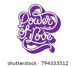 calligraphy monoline lettering... | Shutterstock .eps vector #794333512