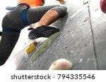 climbing shoes in boulder... | Shutterstock . vector #794335546