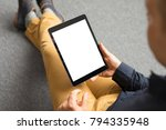 template and mockup for tablet... | Shutterstock . vector #794335948