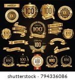 anniversary retro vintage... | Shutterstock .eps vector #794336086