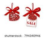 happy valentines day. discount...   Shutterstock .eps vector #794340946
