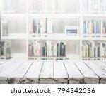white wooden texture tabletop... | Shutterstock . vector #794342536