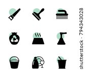 household icons. vector...