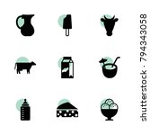 milk icons. vector collection...