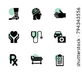 patient icons. vector...