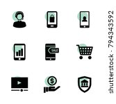 online icons. vector collection ... | Shutterstock .eps vector #794343592