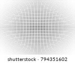 abstract halftone wave dotted... | Shutterstock .eps vector #794351602