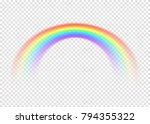 rainbow with limpid section... | Shutterstock .eps vector #794355322
