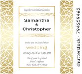 wedding invitation card with... | Shutterstock .eps vector #794359462