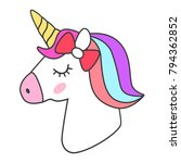 unicorn icon isolated on white | Shutterstock .eps vector #794362852