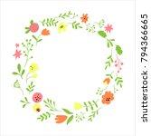 flower vector frame | Shutterstock .eps vector #794366665