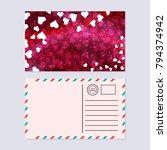 valentine's day postcard vector ... | Shutterstock .eps vector #794374942