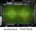 Football Stadion From Above At...