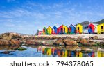 colourful beach houses in... | Shutterstock . vector #794378065