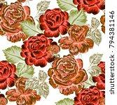 rose seamless pattern.... | Shutterstock .eps vector #794381146