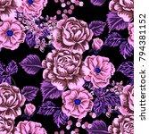 rose seamless pattern.... | Shutterstock .eps vector #794381152