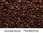coffee beans background. all...   Shutterstock . vector #794382916