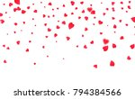 heart confetti. background for... | Shutterstock .eps vector #794384566