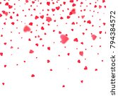 heart confetti. background for... | Shutterstock .eps vector #794384572