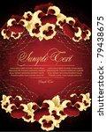 decorative background  vector... | Shutterstock .eps vector #79438675