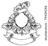 vintage emblem with ribbon   Shutterstock .eps vector #79439296