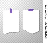 blank torned off pages with... | Shutterstock .eps vector #794395795