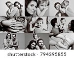 collage of photos  family in... | Shutterstock . vector #794395855