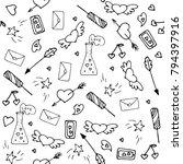 love symbols seamless pattern.... | Shutterstock .eps vector #794397916
