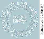 floral background  vintage... | Shutterstock .eps vector #794401432