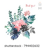 hand drawn artistic bouquet.... | Shutterstock . vector #794402632