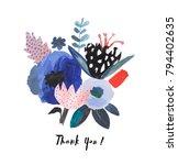 hand drawn artistic bouquet.... | Shutterstock . vector #794402635