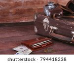 travel concept with vintage... | Shutterstock . vector #794418238
