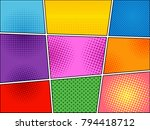 comic book colorful background... | Shutterstock .eps vector #794418712