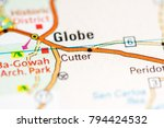 cutter. arizona. usa on a map | Shutterstock . vector #794424532