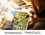diagnostic board replacement... | Shutterstock . vector #794427622