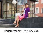 young fashion business woman... | Shutterstock . vector #794427958