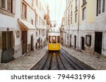 famous old yellow tram on... | Shutterstock . vector #794431996