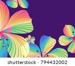 abstract striped petals on... | Shutterstock .eps vector #794432002