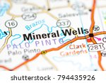 mineral wells. texas. usa on a... | Shutterstock . vector #794435926