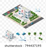 set of isolated high quality... | Shutterstock .eps vector #794437195