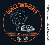 rally. racing car. emblem.... | Shutterstock .eps vector #794439382
