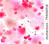 hearts random background. st.... | Shutterstock .eps vector #794440918
