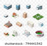 isometric high quality city... | Shutterstock .eps vector #794441542