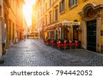 view of old cozy street in rome ... | Shutterstock . vector #794442052