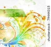 floral summer design elements... | Shutterstock .eps vector #79444315